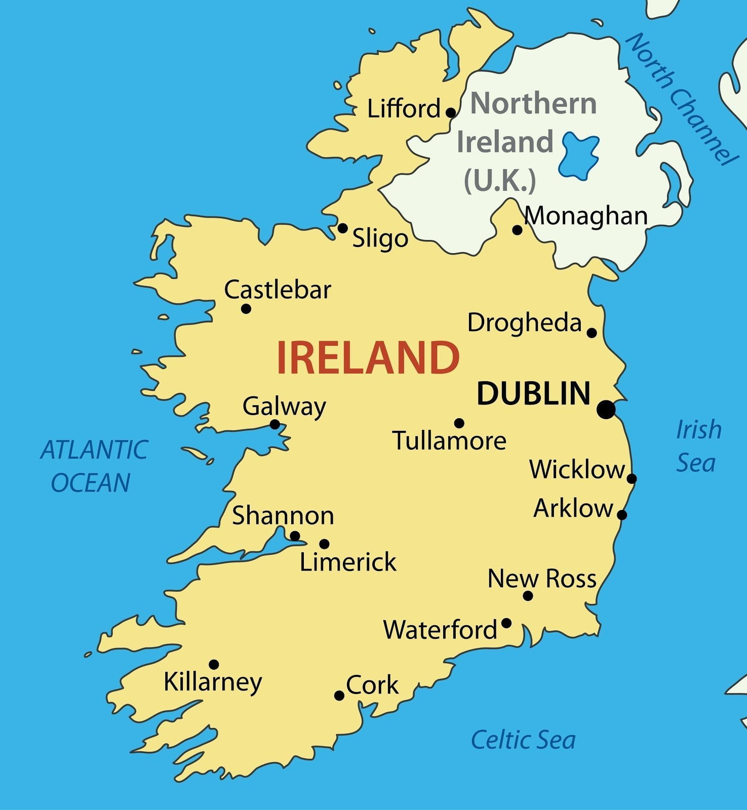 how to draw a map of ireland ireland map